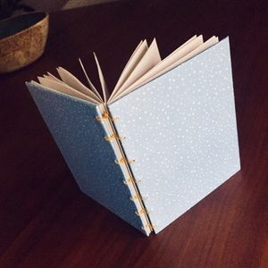 Other - Textured blue dotted notebook